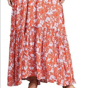 ddc4fa30be Free People Skirts - Free People Way of the Wind Print Maxi Skirt